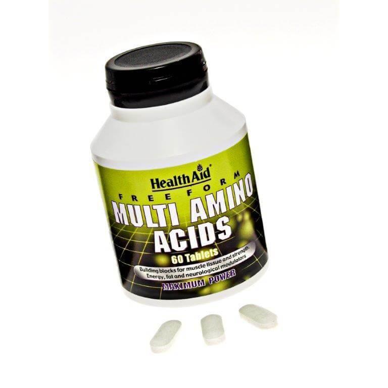 Health Aid Μulti Amino Acids Πολυαμινοξέα Ιδανικό Για Την Συμπλήρωση Των Κενών Σε Όλα Τα Αμινοξέα