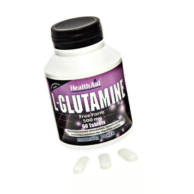 Health Aid L-Glutamine Γλουταμίνη 500mg Για Υγιή Εγκέφαλο 60tabs