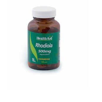 Health Aid Rhodiola Ροντιόλα 500mg Rhodiola rosea Φυσικός Ρυθμιστής Της Καλής Διάθεσης 60tabs