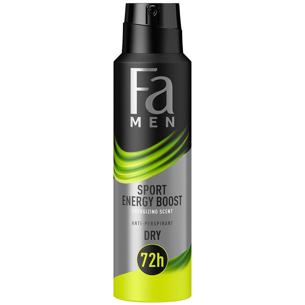 Fa Men Sport Energy Boost Anti Persprorant Spray 72h with Energy Scent Ανδρικό Αποσμητικό 72ωρης Προστασίας 150ml