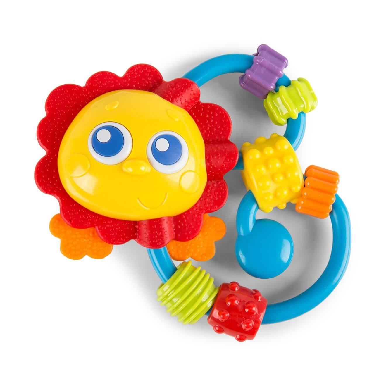 Playgro Curly Critter Παιδική Κουδουνίστρα Λιονταράκι3m+ BPA Free