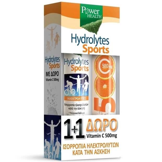 Power Health Hydrolytes Sports Συμπλήρωμα Διατροφής 20 Δισκία & Δώρο Vitamin C 500mg Συμπλήρωμα Διατροφής 20 Δισκία
