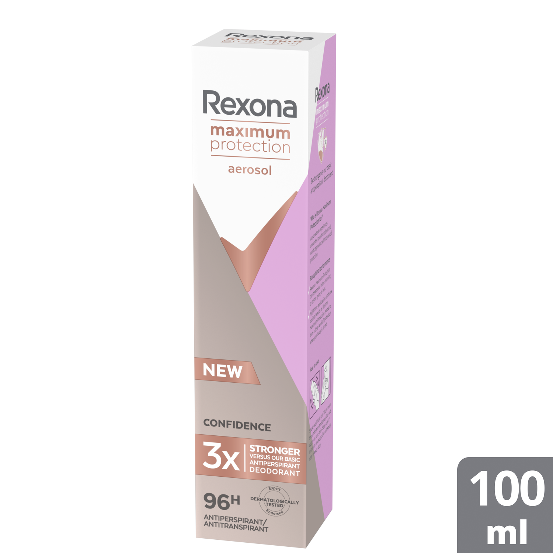 Rexona Confidence Maximum Protection Aerosol 96h Αντιιδρωτικό Γυναικείο με Αποτέλεσματικότητα Έως και 96 Ώρες 100ml