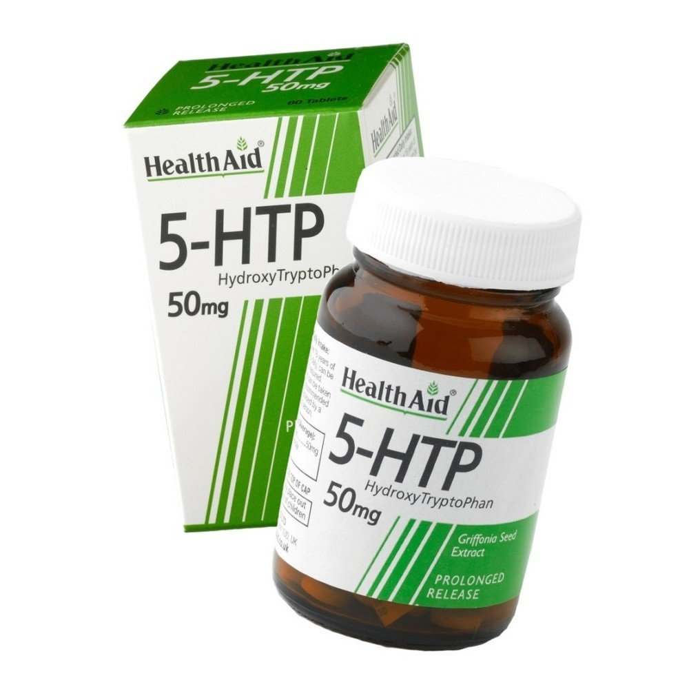 Health Aid TryptoPhan 5-HTP Grifonia Αμινοξύ που Λειτουργεί ως Ρυθμιστής της Σεροτονίνης & της Καλής Διάθεσης 60tab