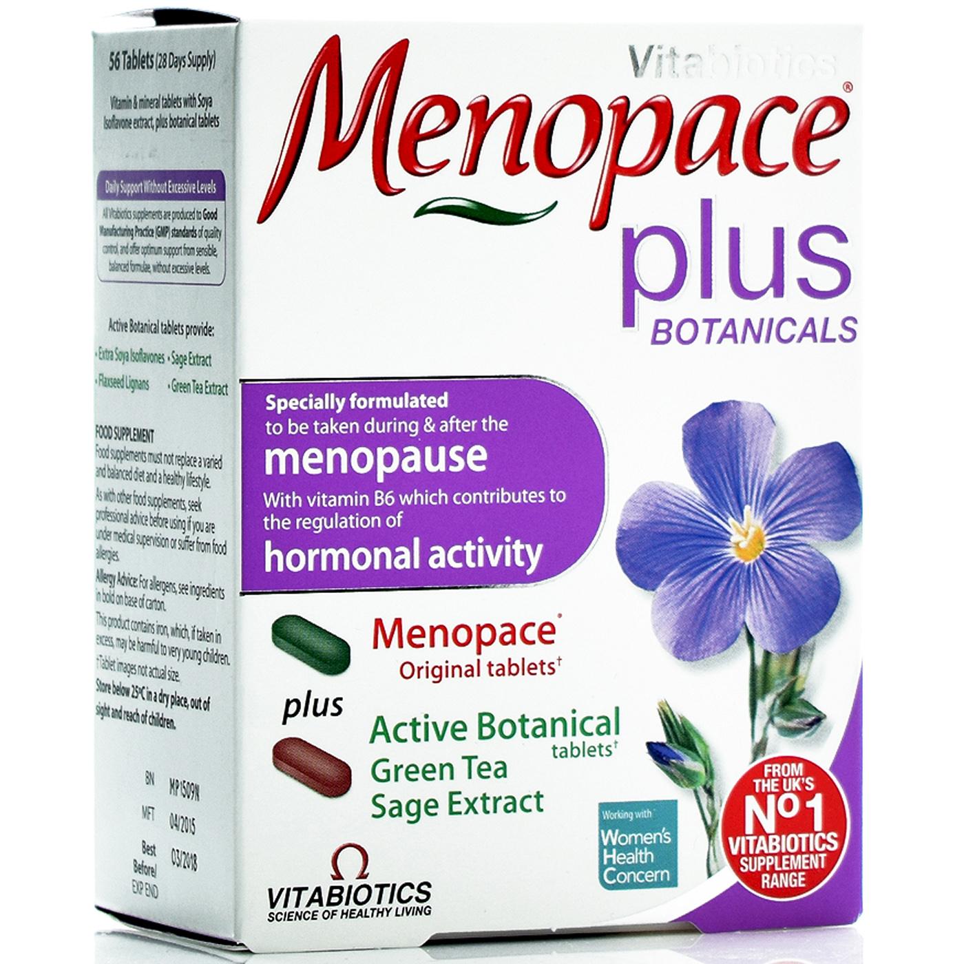 Vitabiotics Menopace Plus Ταμπλέτες Βοτάνων Με Φυτοοιστρογόνα 56tabs