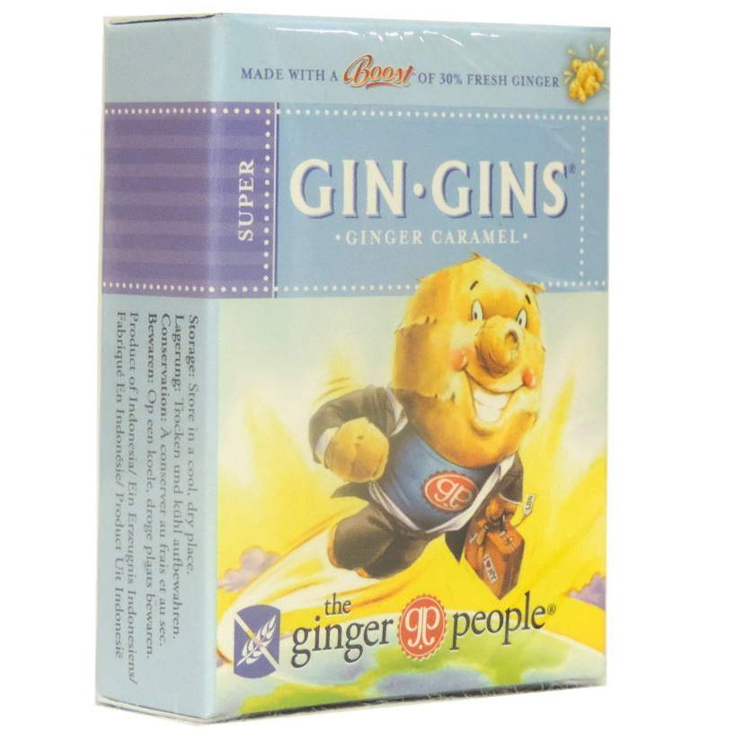 Gin Gins Boost Παστίλιες Κατάλληλες για Ναυτία, Δυσπεψία, Πονόλαιμο & Εντερικούς Κολικούς 31g