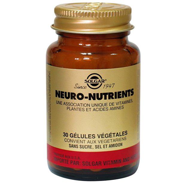 Solgar Neuro Nutrients Συμπλήρωμα Διατροφής για την Ενίσχυση των Νοητικών Λειτουργειώνveg.caps – 30 caps