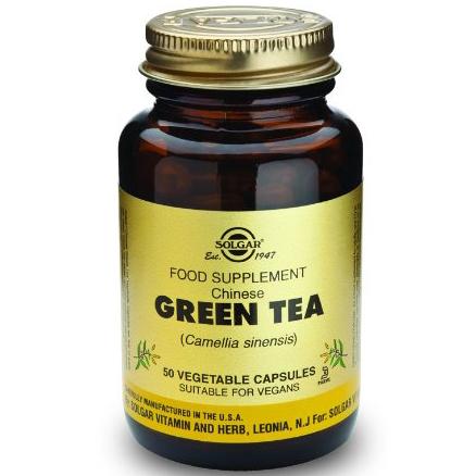 Solgar Green Tea Συμπλήρωμα Διατροφής για τη Καύση του Αποθηκευμένου Λίπους50veg.caps