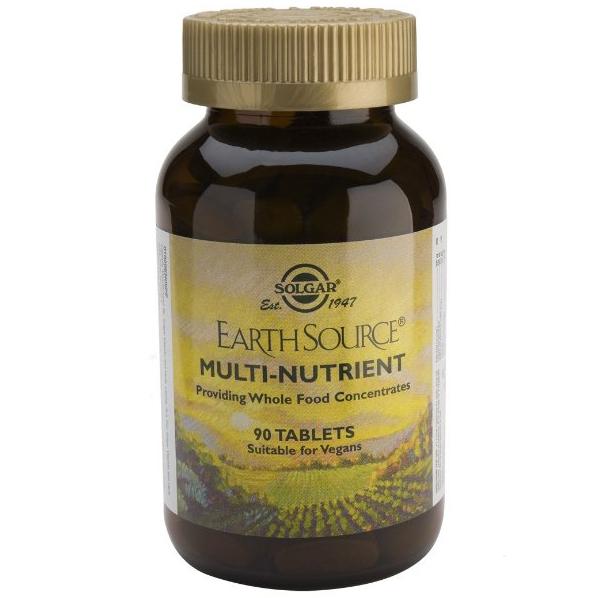 Solgar Earth Source Multi-Nutrient Συμπλήρωμα Διατροφής για Μέγιστη Απορρόφηση & Αξιοποίηση Βιταμινών από τον Οργανισμό tablets – 60 tabs