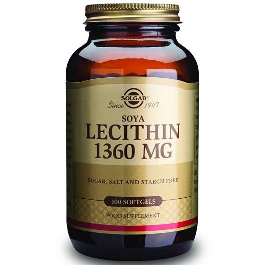 Solgar Lecithin 1360mg Συμπλήρωμα Διατροφής για τη Διατήρηση & τον Έλεγχο του Σωματικού Βάρουςsoftgels – 100 softgels