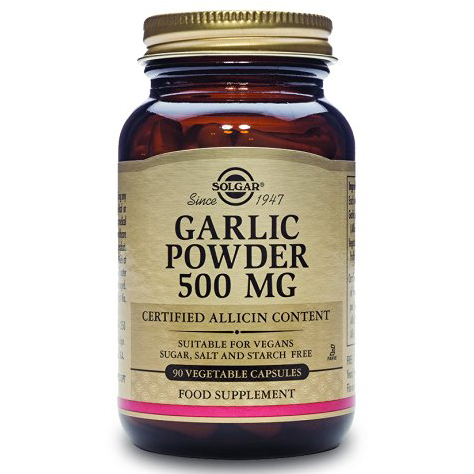 Solgar Garlic 500mg Συμπλήρωμα Διατροφής για τη Μείωση της Πίεσης & Αντιμετώπιση των Μολύνσεων 90vegcaps