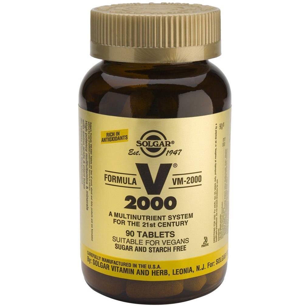 Solgar Formula VM-2000 Συμπλήρωμα Διατροφής Πλούσιο σε Αντιοξειδωτικά & Μέταλλα Χηλικής Μορφήςtablets – 180 tabs