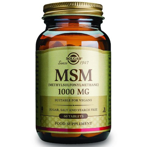 Solgar MSM 1000mg Συμπλήρωμα Διατροφής που Βοηθά στη Καλή Υγεία & Ενδυναμώνει το Συνδετικό Ιστό60tablets
