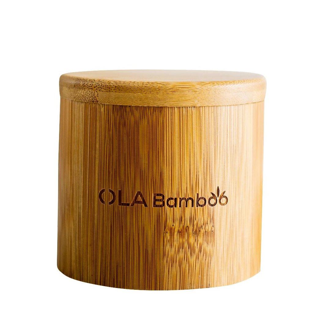 OLABamboo Makeup Remover Pads with Bamboo Case Θήκη για Σφουγγαράκια Αφαίρεσης Μακιγιάζ Από Bamboo 16 Τεμάχια