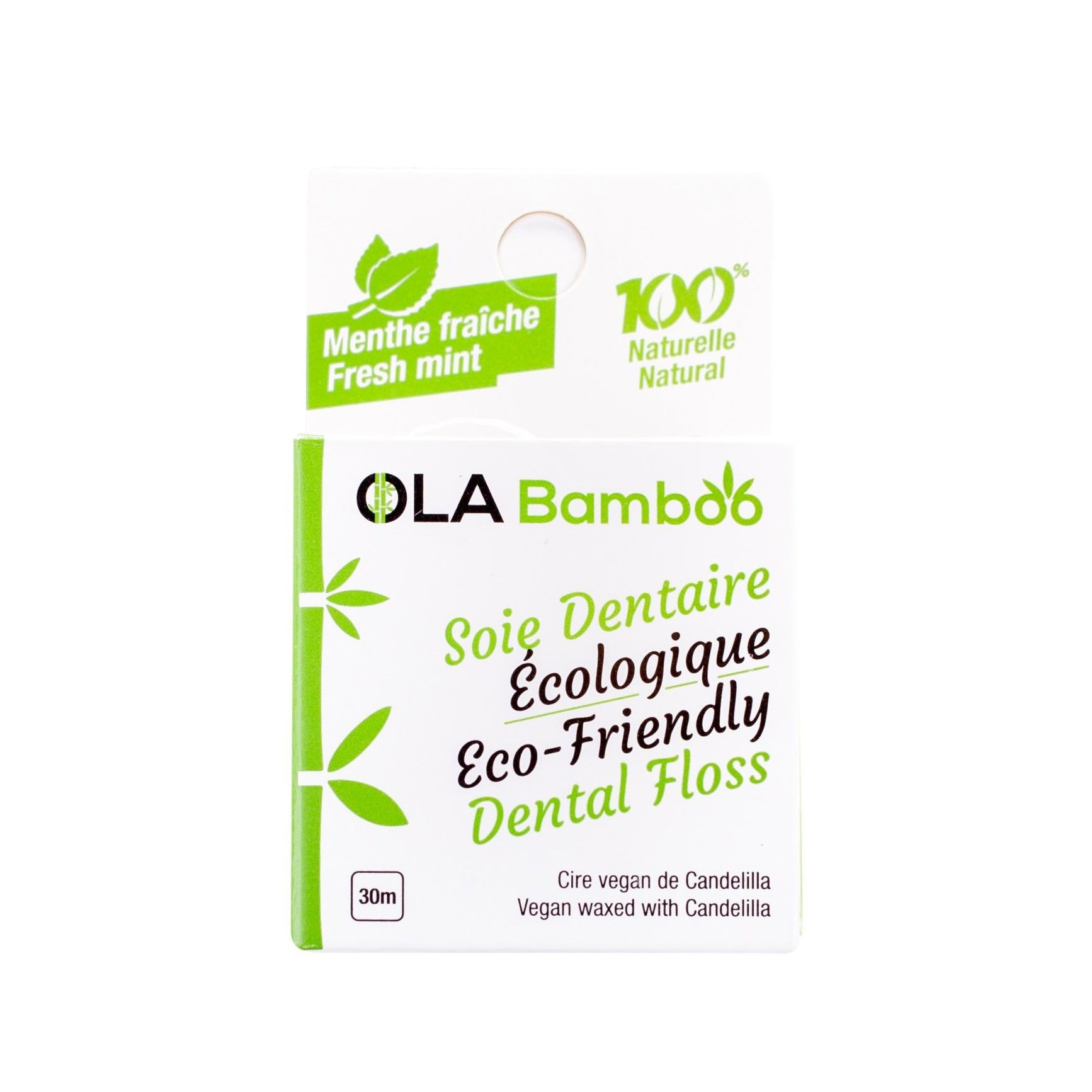 OLABamboo Eco-Friendly Dental Floss Φυσικό Οδοντικό Ρολό Νήματος 30m 1 Τεμάχιο