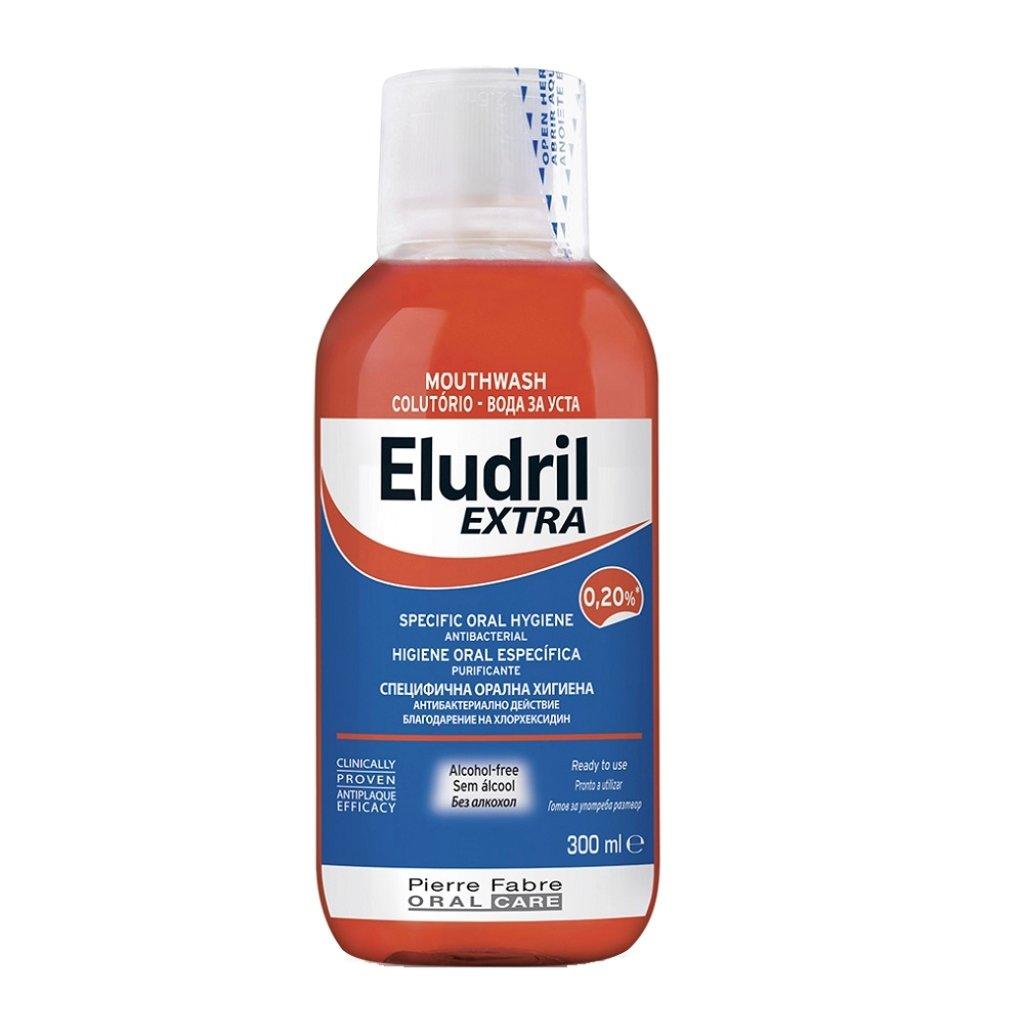 Eludril Extra 0.20% Στοματικό Διάλυμα Χωρίς Αλκοόλ Κατά της Πλάκας 300ml