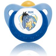 NUK Trendline Disney Γαλάζια Πιπίλα Καουτσούκ Με Κρίκο Μεγέθη 1-2 – Μέγεθος 3 (18-36 μηνών)