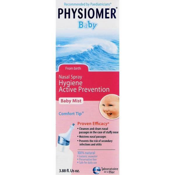 Physiomer Baby Comfort – Ισότονο ,Προσφέρει Τέλειο Καθαρισμό και Πλύση της Ρινικής Κοιλότητας115ml