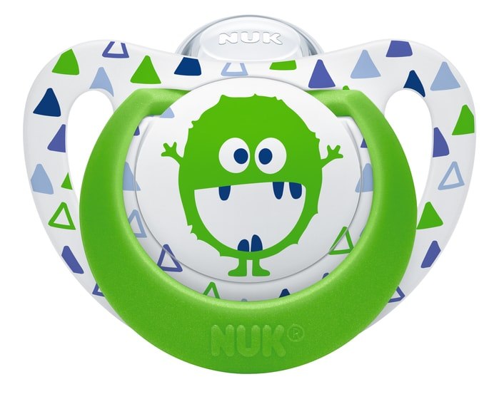 Nuk Genius Color Πιπίλα Σιλικόνης με Κρίκο Χωρίς BPA – Μέγεθος 1 (0-6 μηνών)