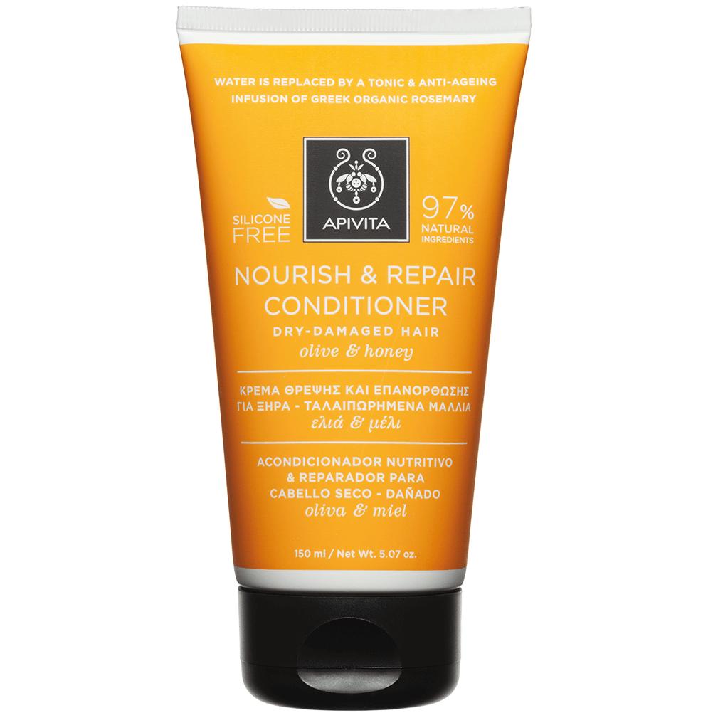 Apivita Nourish & Repair Κρέμα για Ξηρά – Ταλαιπωρημένα Μαλλιάμε Ελία & Μέλι 150ml
