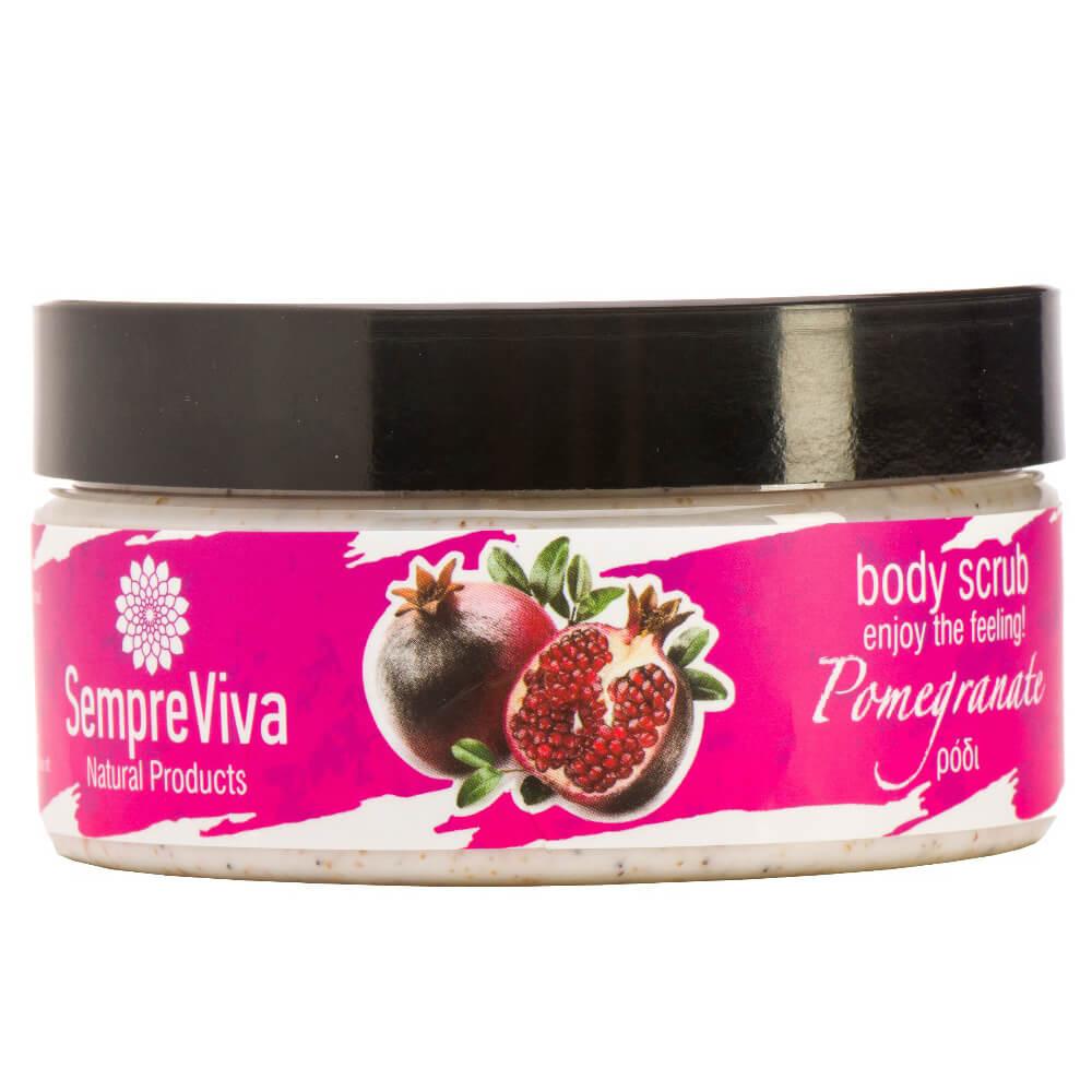 SempreViva Body Scrub Pomegranate Scrub Σώματος με Άρωμα Ρόδι200g