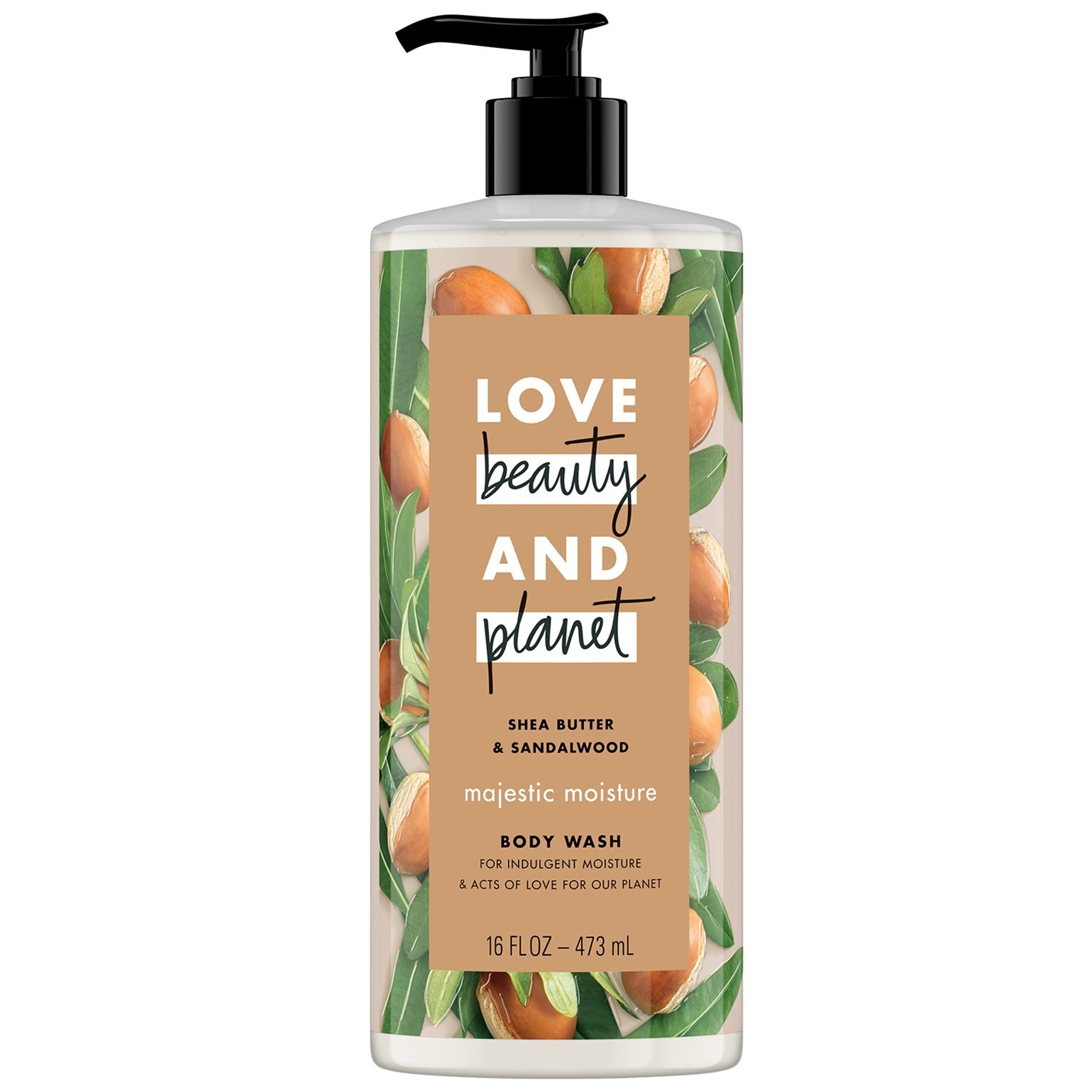 Love Beauty and Planet Shower gel Shea Butter & Sandalwood oil, Αφρόλουτρο 500ml
