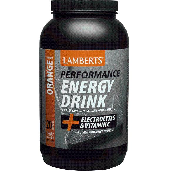 Lamberts Performance EnergyDrinkΣυμπλήρωμα Διατροφής με Ηλεκτρολύτες και Σύνθετους Υδατάνθρακες μεΓεύσηΠορτοκάλι 1000gr