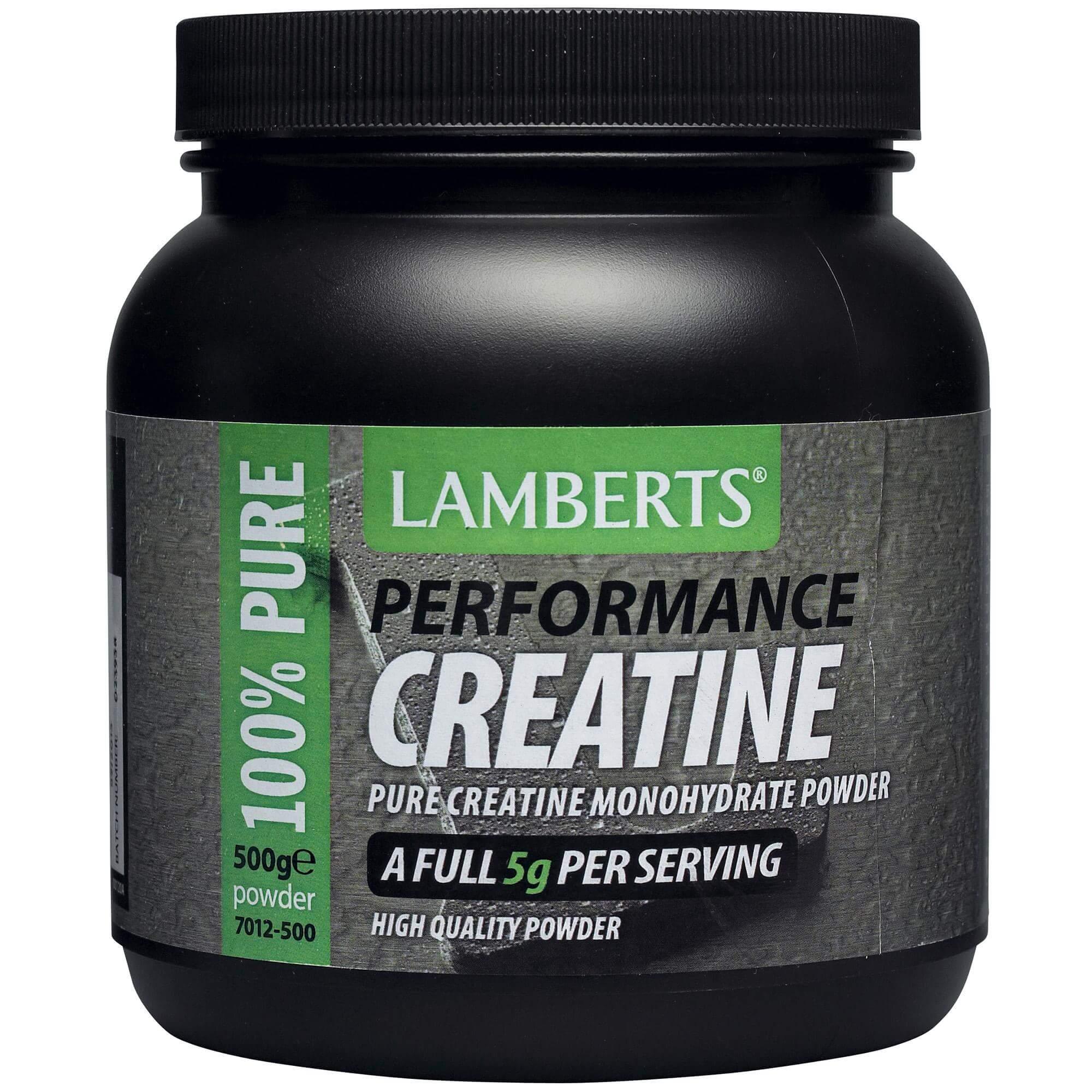 Lamberts Peformance Creatine Συμπλήρωμα Διατροφής Κρεατίνης σε Σκόνη 500gr