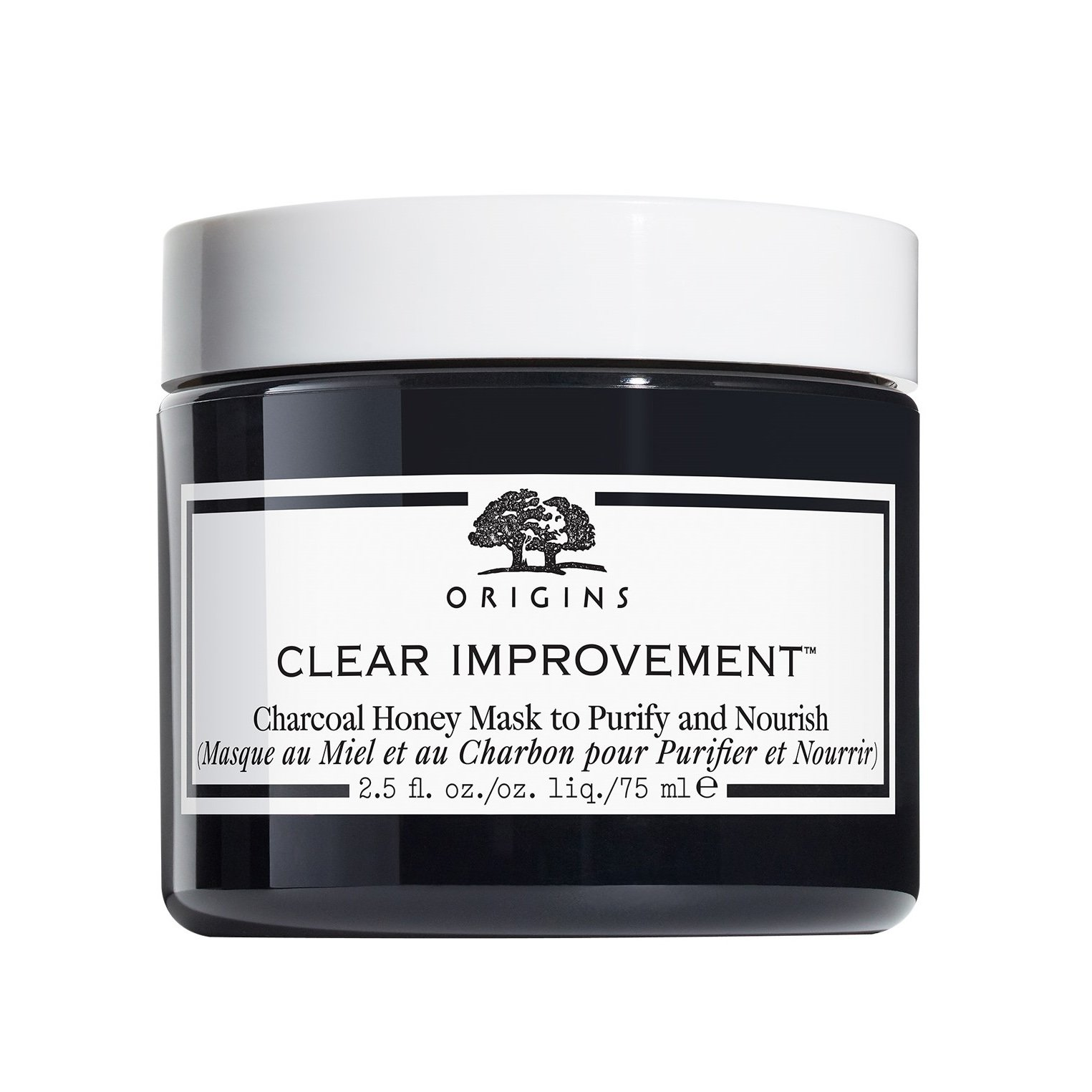 Origins Clear Improvement Charcoal Honey Mask To Purify & Nourish Μάσκα με Ενεργό Άνθρακα & Μέλι για Βαθύ Καθαρισμό & Θρέψη 75ml