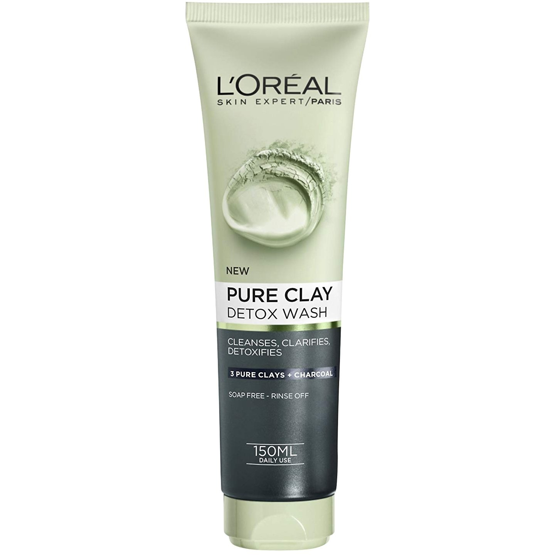 L'oreal Paris Pure Clay Detox Wash Τζελ Καθαρισμού με Άργιλο για Αίσθηση Αποτοξίνωσης 150ml