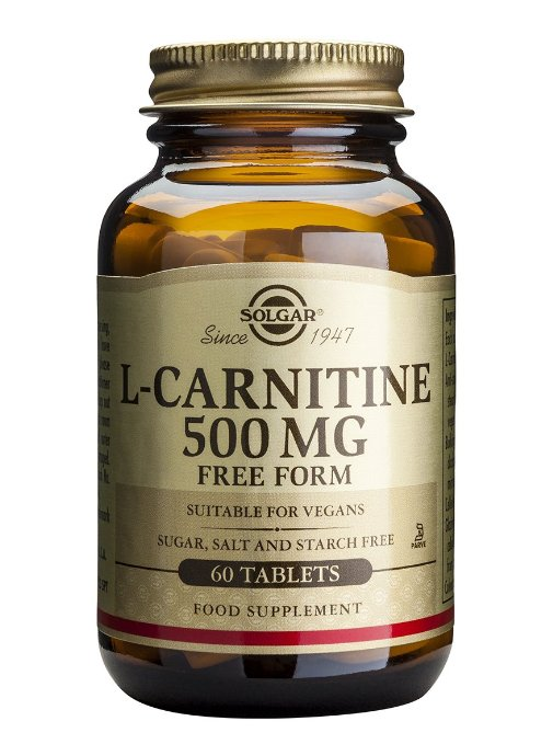 Solgar L-Carnitine 500mg Συμπλήρωμα Διατροφής που Βοηθά τη Καρδιαγγειακή Υγεία & Μετατρέπει τα Λιπαρά Οξέα σε Ενέργειαtablets – 30 tabs