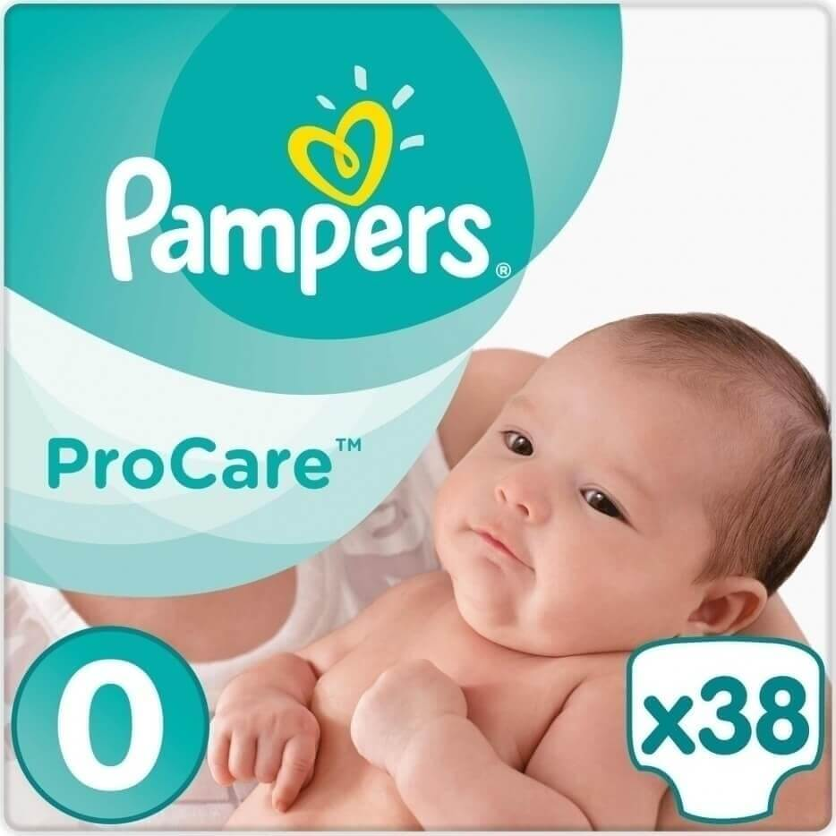 Pampers ProCare Premium Protection No0 (1-2.5kg) 38 πάνες 20309