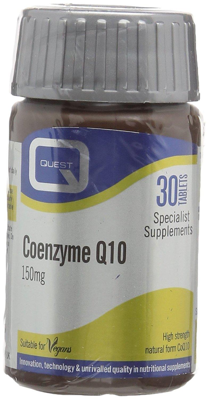 Quest Coenzyme Q10 150mg Συμπλήρωμα Διατροφής Συνενζύμου Q10 για την Μέγιστη Παραγωγή Ενέργειας 30tabs