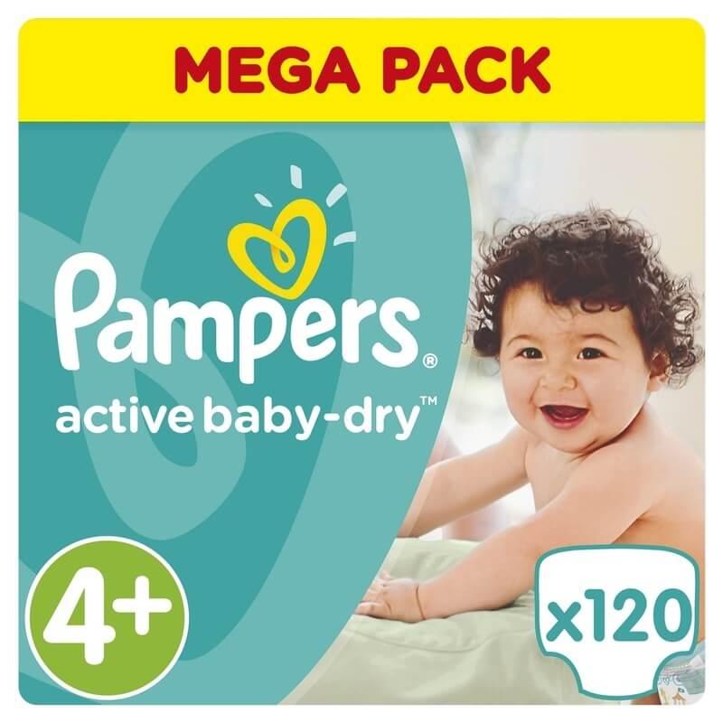Pampers Active Baby Dry Mega Pack No4+ (9-16kg) 120 πάνες 24536