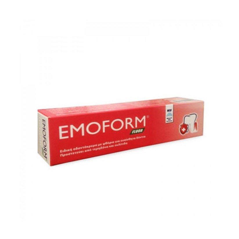 Emoform Fluor Swiss Ειδική Οδοντόκρεμα με Φθόριο για Ευαίσθητα Δόντια, Προστατεύει Από Τερηδόνα & Ουλίτιδα 50ml