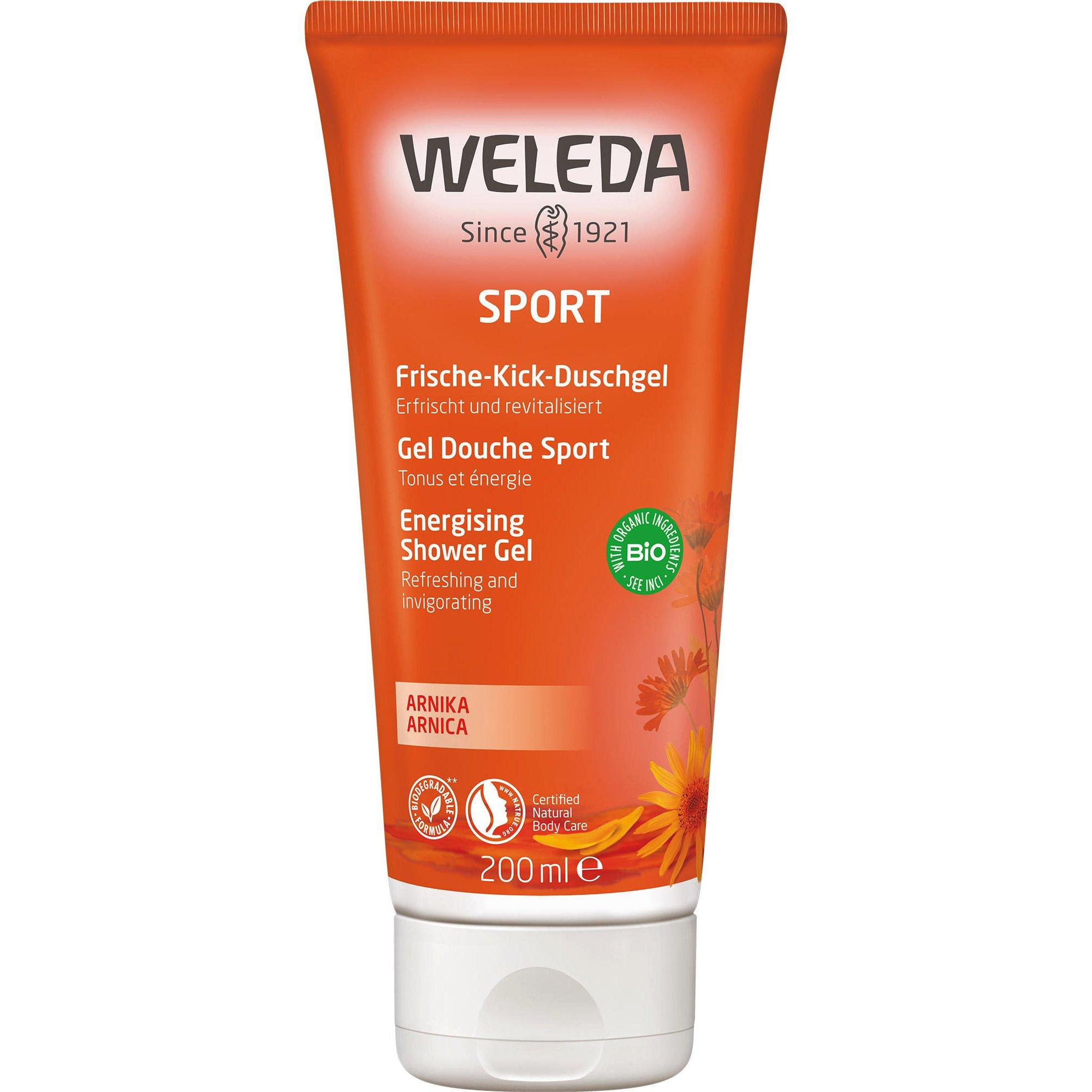 Weleda Sport Energy Shower Gel Arnica Τονωτικό Αφρόλουτρο σε Μορφή Gel 200ml