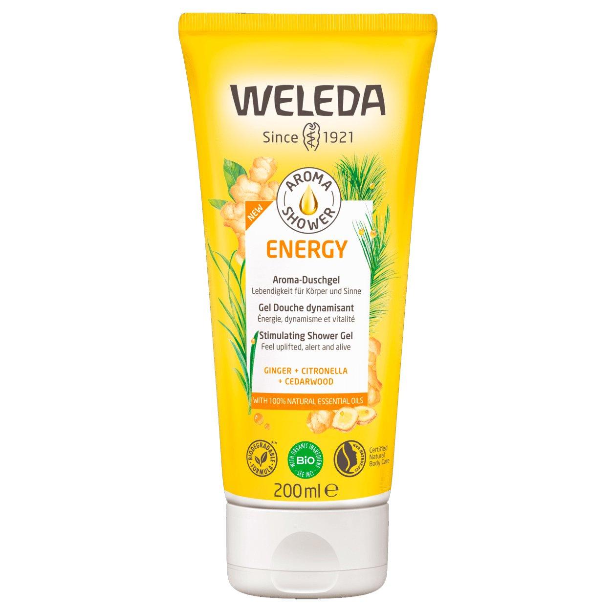 Weleda Energy Aroma Shower Gel Κρεμοντούς με Πιπερόριζα & Σιτρονέλα 200ml