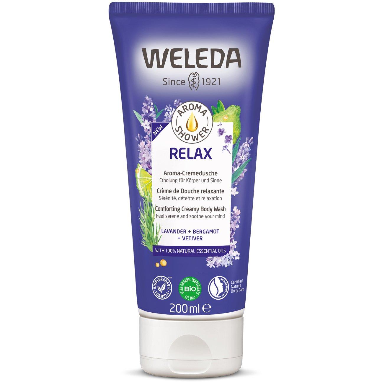 Weleda Relax Aroma Shower Creamy Body Wash Κρεμώδες Αφροντούς για Αίσθηση Χαλάρωσης 200ml