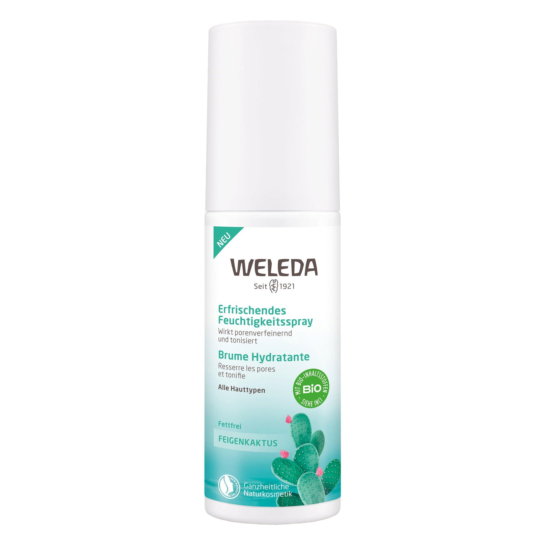 Weleda Prickly Pear Refreshing Moisture Spray Δροσερό Σπρέι Εντατικής Ενυδάτωσης με Φραγκοσυκιά για Κάθε Τύπο Δέρματος 100ml