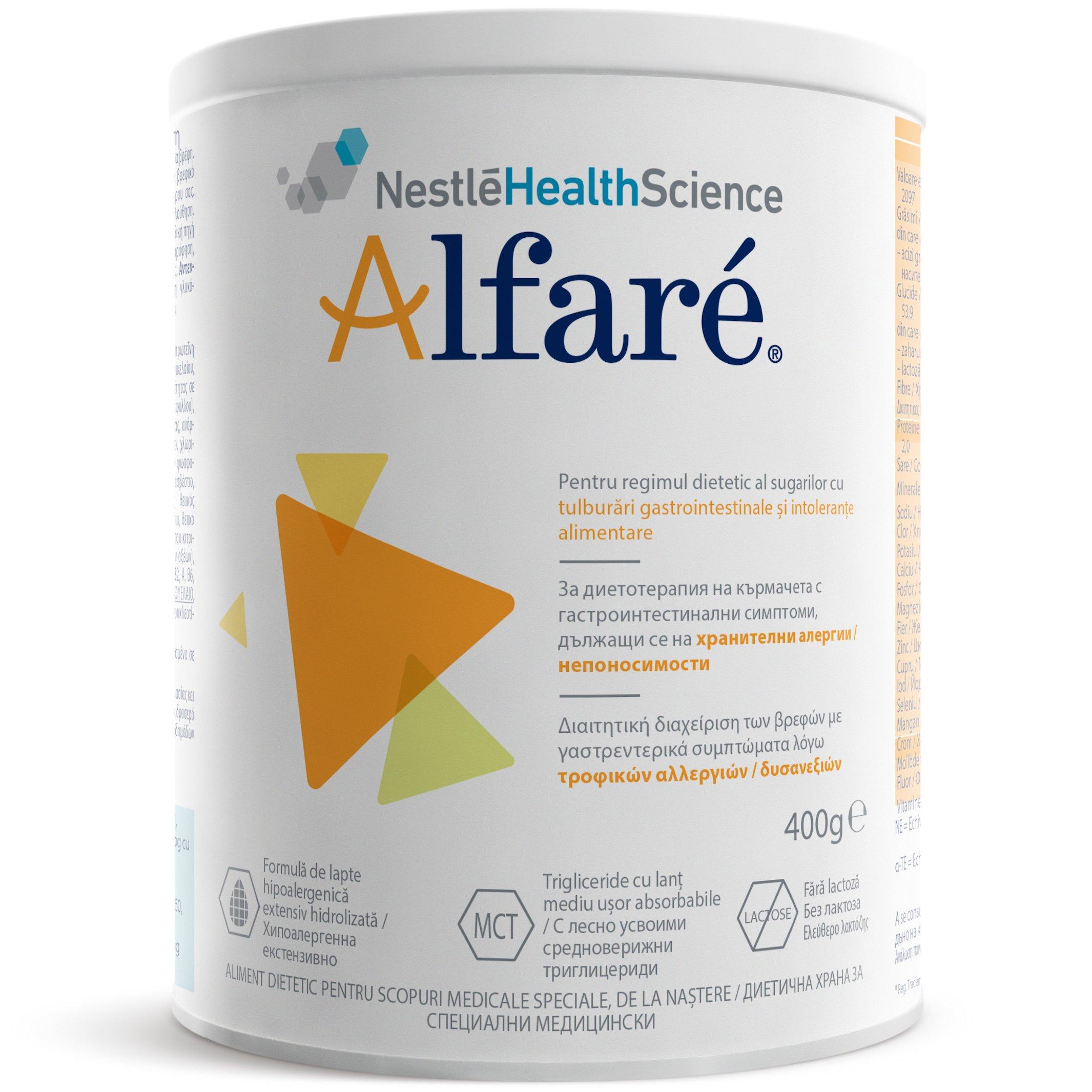 Nestle Alfare Διαιτητική Διαχείριση Βρεφών με Γαστρεντερικά Συμπτώματα Λόγω Τροφικών Αλλεργιών/Δυσανεξιών, από τη Γέννηση 400gr