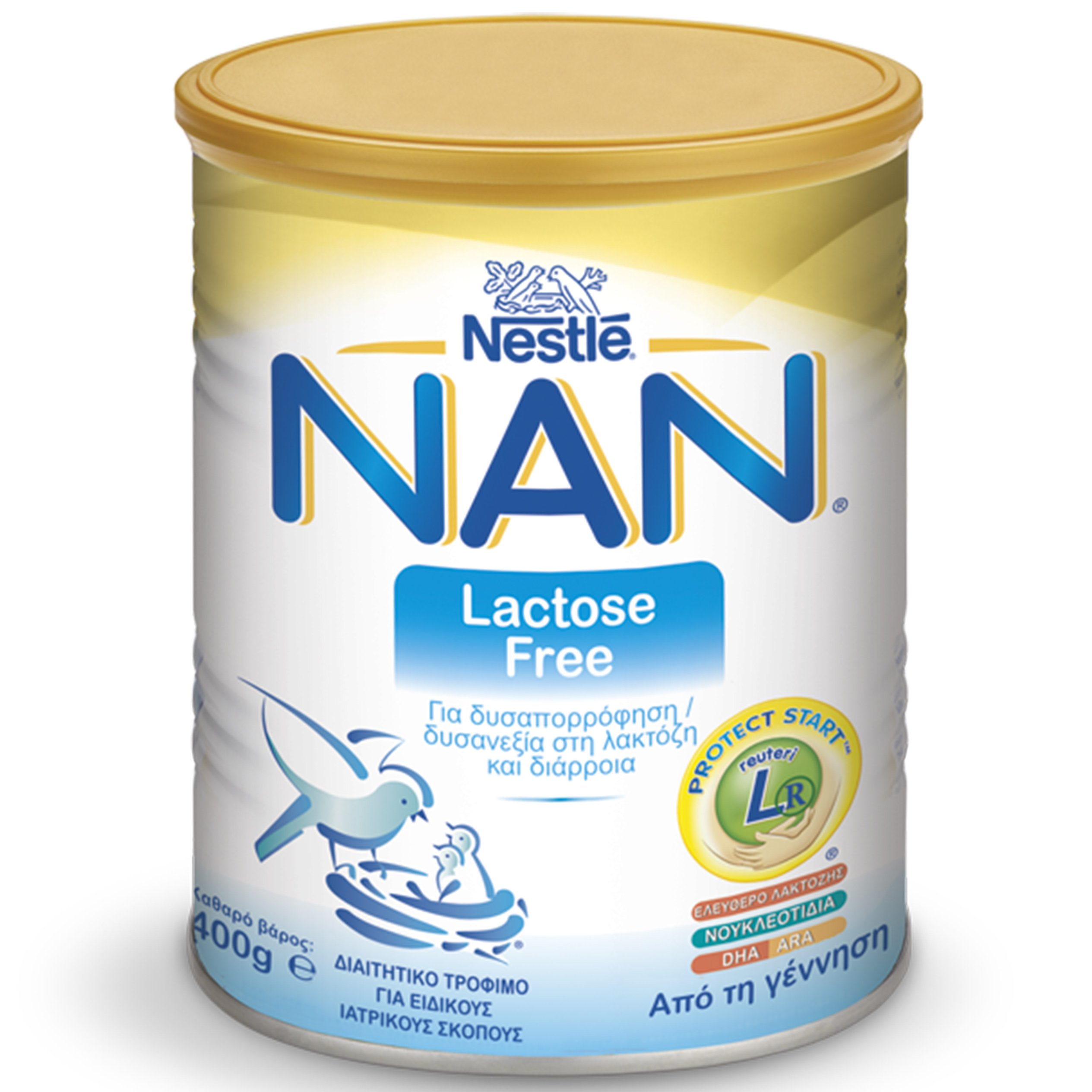 Nestle NAN Lactose Free Βρεφικό Γάλα σε Σκόνη για Δυσαπορρόφηση/Δυσανεξία στη Λακτόζη & Διάρροια,Κατάλληλο Από την Γέννηση 400gr
