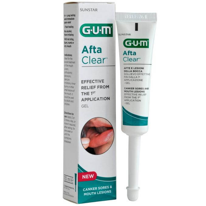 Gum Afta Clear Gel Τζελ Τοπικής Εφαρμογής για τη Θεραπεία των Αφθών 10ml