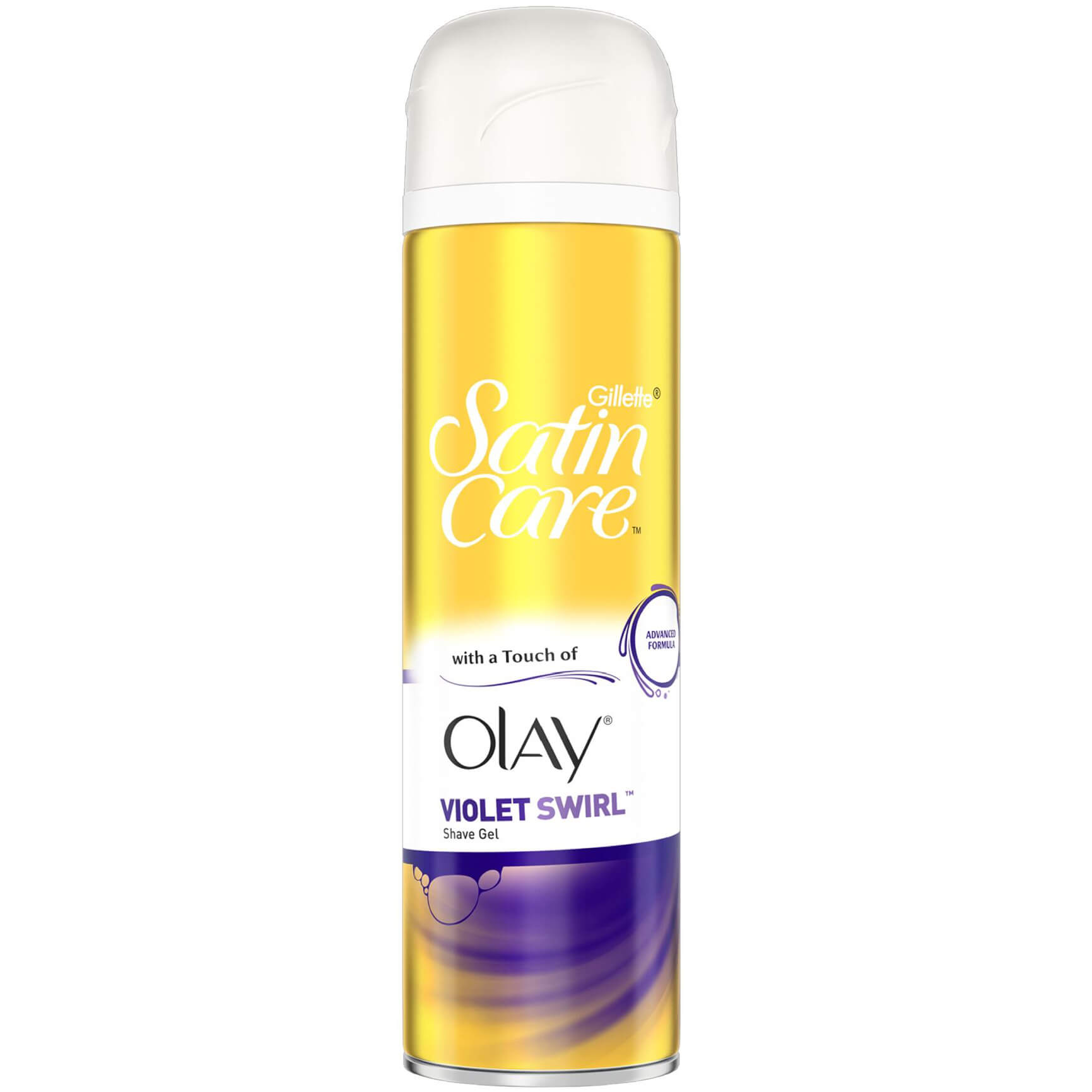 Gillette Satin Care Gel Ξυρίσματος Violet Swirl With a Touch of Olay για Άψογο Ξύρισμα 200ml