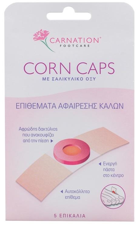 Vican Carnation Corn Caps Αυτοκόλλητα Επιθέματα Αφαίρεσης Κάλων 5τμχ