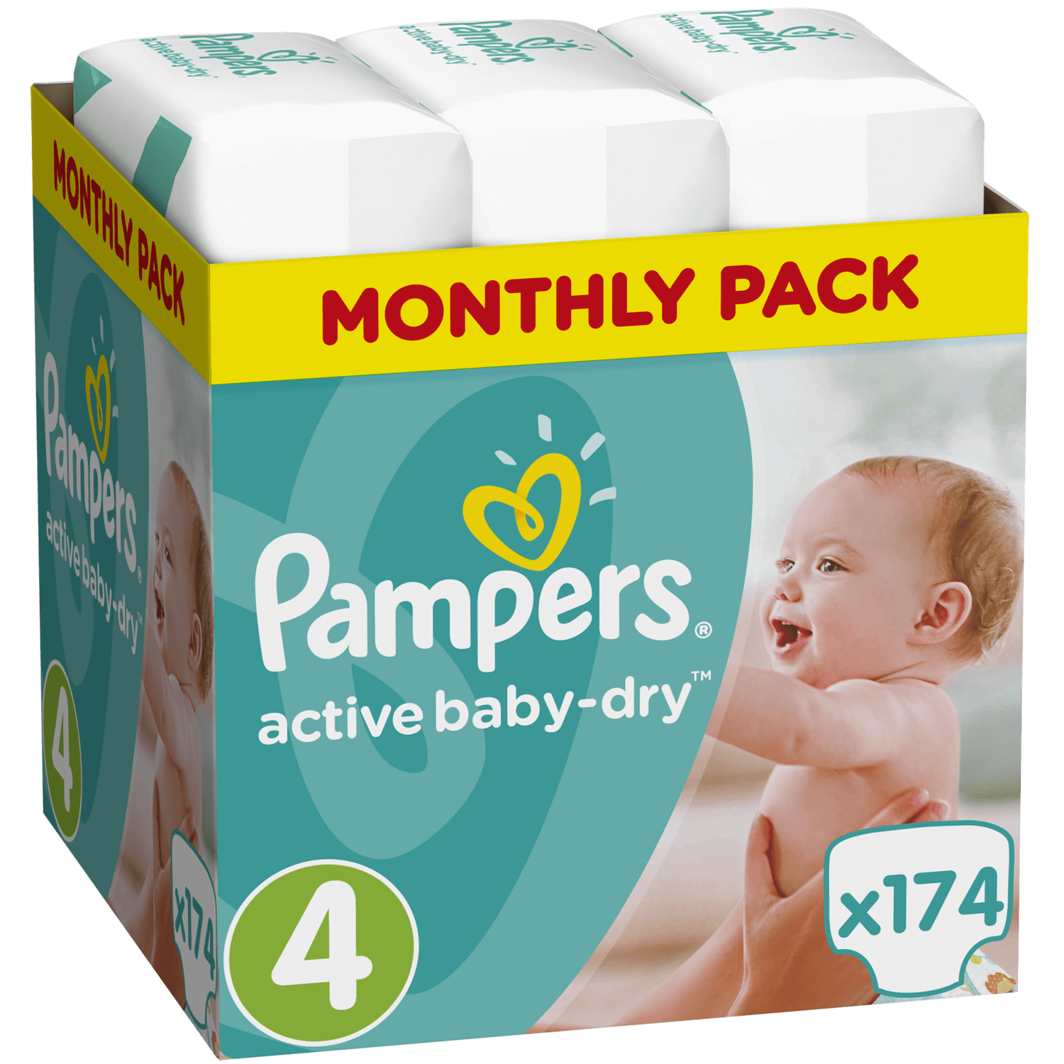 Pampers Active Baby Dry Monthly Pack No4 Maxi (8-14kg) 174 πάνες, μόνο 0,23€ / π μητέρα παιδί   περιποίηση για το μωρό   πάνες για το μωρό