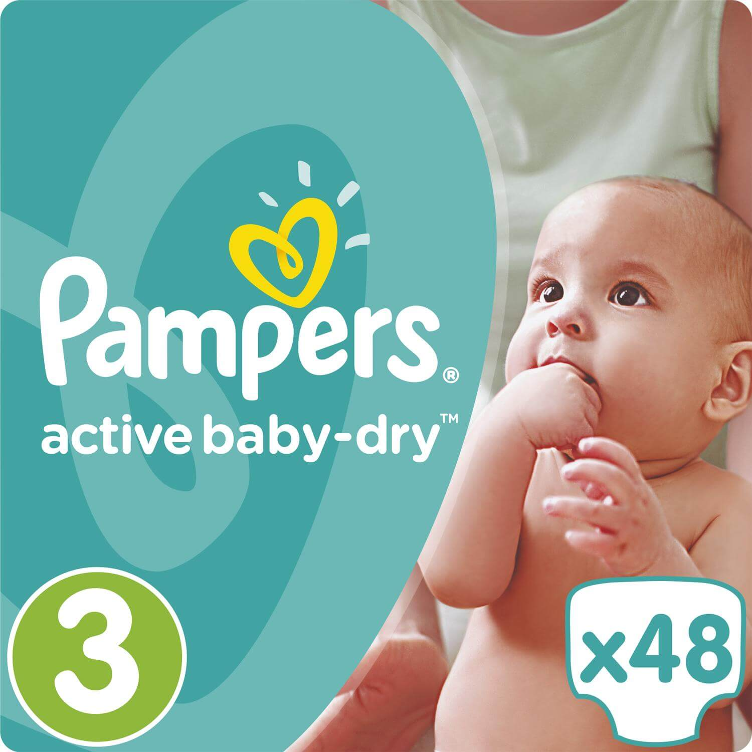 Pampers Active Baby Dry No3 (5-9kg) 48 πάνες 19613
