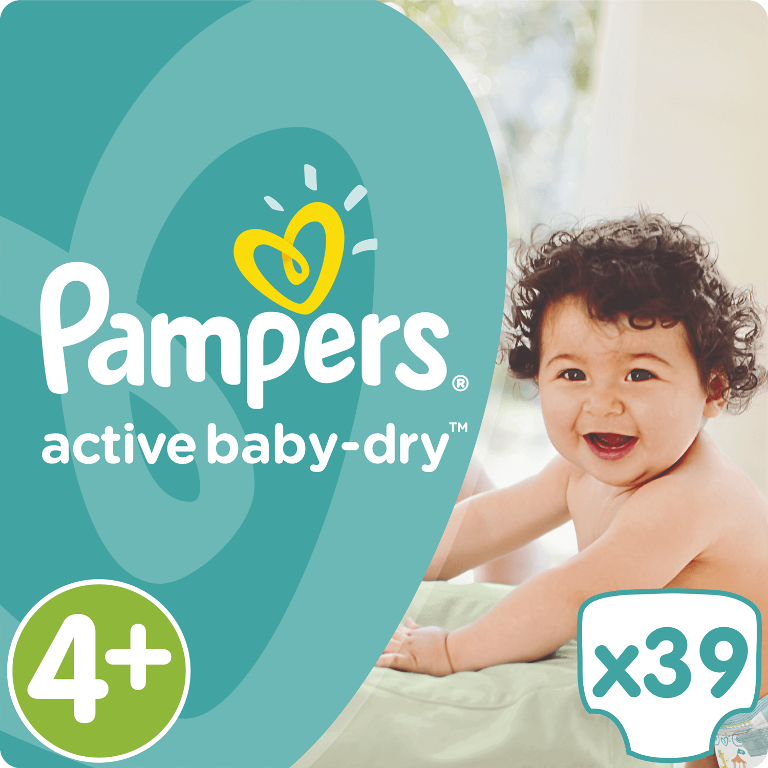 Pampers Active Baby Dry No4+ Maxi Plus (9-18kg) 39 Πάνες 19622