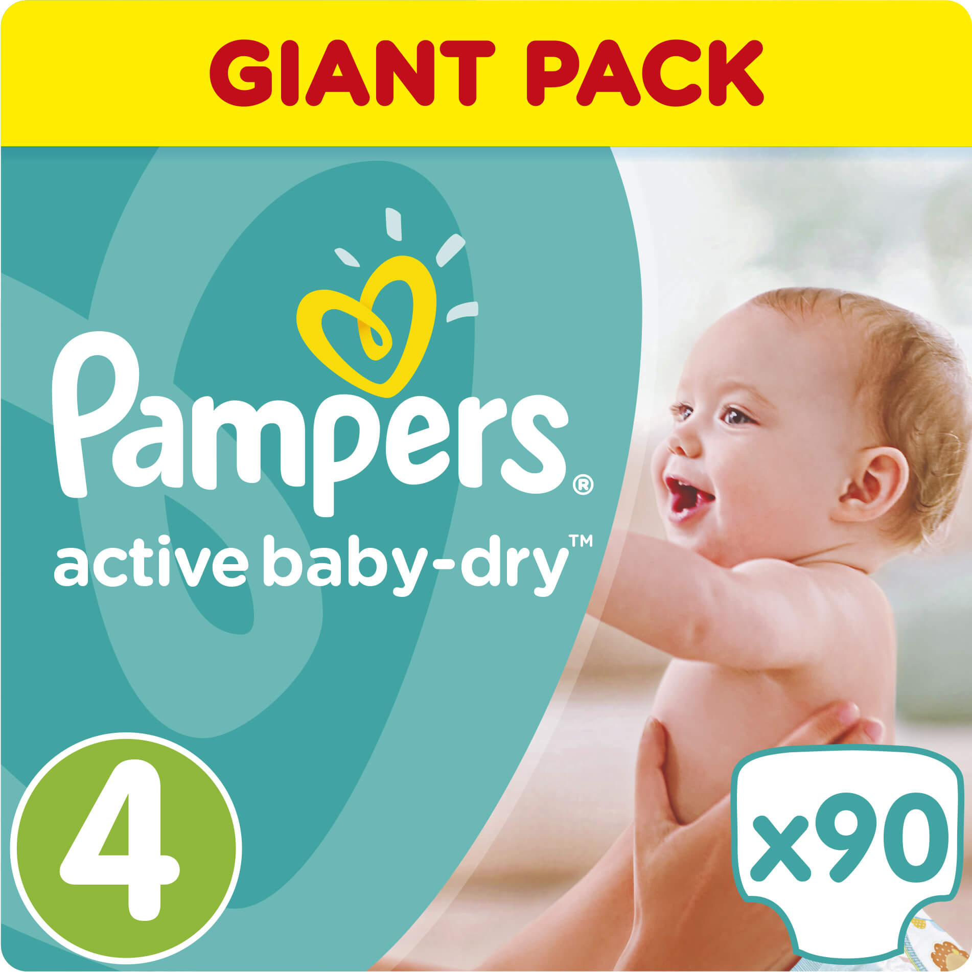 Pampers Active Baby Dry Giant Pack No4 (8-14kg) 90 πάνες μητέρα παιδί   περιποίηση για το μωρό   πάνες για το μωρό