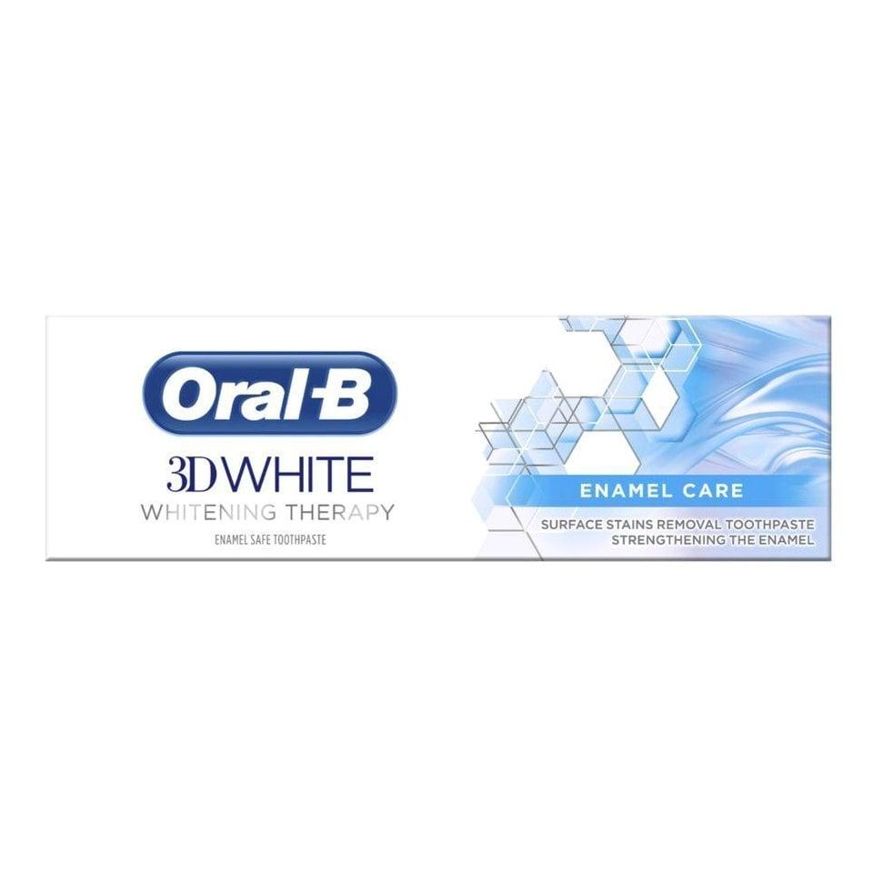 Oral-B 3D White Whitening Therapy Enamel Οδοντόκρεμα για Απομάκρυνση των Επιφανειακών Λεκέδων & Προστασία του Σμάλτου 75ml