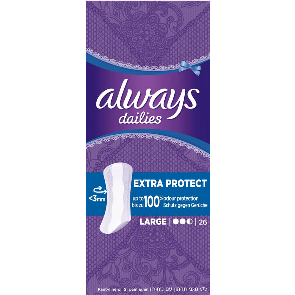 Always Dailies Large Extra Protect Σερβιετάκια 26τμχ